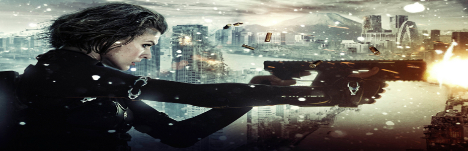 'Resident Evil: Retribution; clip of Alice and Ada Wong taking on 2 Executioners